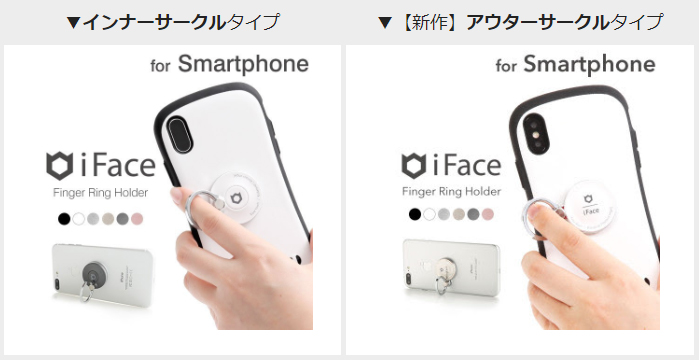 iFace Finger Ring Holder 違い