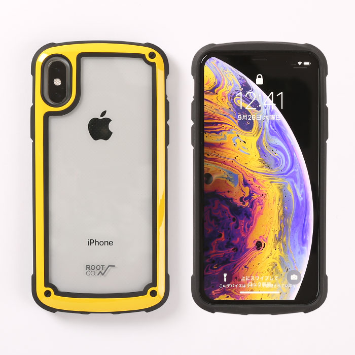 09e75ff01d [iPhone XS/X専用]ROOT CO. Gravity Shock Resist Tough & Basic Case.