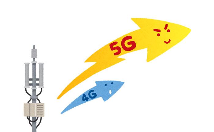 5Gと4Gの速度の違い