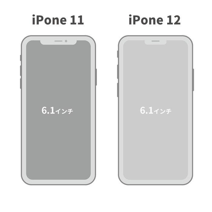 iphone11と12のディスプレイ比較