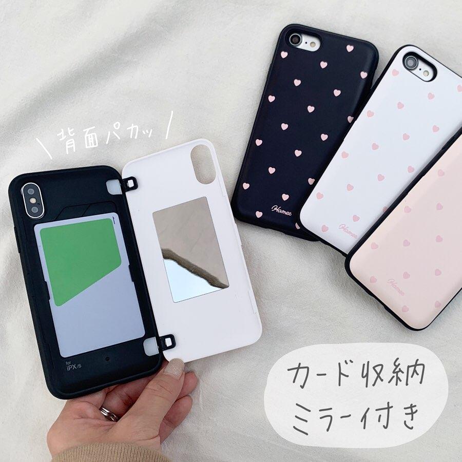 韓国 カード収納 くすみカラー ハート柄 latootoo  iPhoneケース 人気 可愛い トレンド おしゃれ