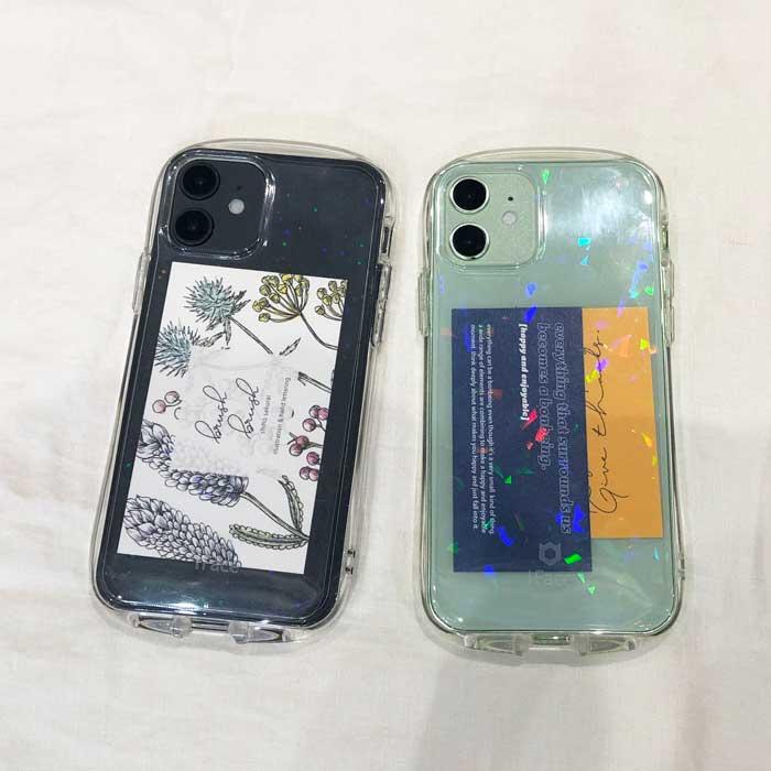 iFaceの新しいシリーズ「Look in Clearケース」にインナーシートを入れてキラキラカスタマイズ/iPhone 7 ケース