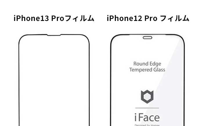 iPhone13ProフィルムはiPhone12Proと併用できない