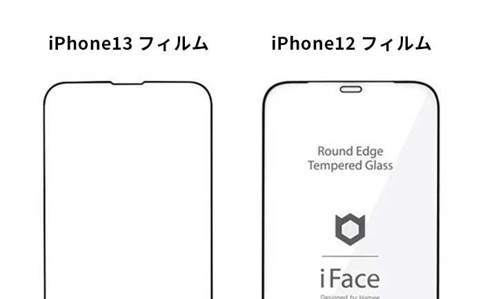 iPhone13フィルムはiPhone12と併用できない